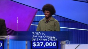 Leonard, Jeopardy - Teen Tournament.